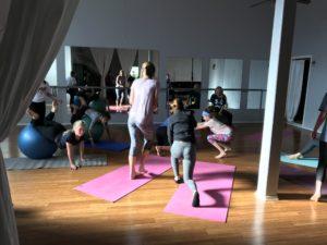 Teen Yoga Girls having fun