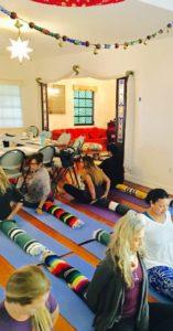 Ghada on yoga mats