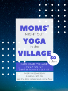 mom's yoga flier