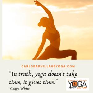 Yoga in Carlsbad? Yes! At Carlsbad Village Yoga Studio